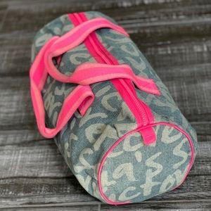 Victoria's Secret Denim Canvas Travel Duffel Bag